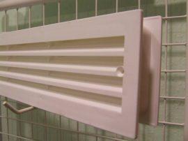 Szellőzőrács, ajtóhoz, MV430/2, műanyag, fehér, 453 x 91 mm