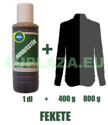 Ruhafesték, fekete, 1 dl, kifutó termék, készleten 2db