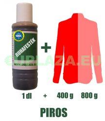 Ruhafesték, piros, 1 dl, kifutó termék, készleten 2db