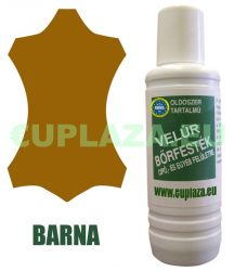 Velúr bőrfesték, barna, 1 dl, kifutó termék, készlet erejéig.