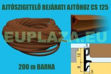Ajtószigetelő, nútba építhető profil, bejárati ajtóhoz, CS 125, EPDM, barna, 200 m