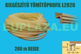 Kiegészítő tömítőprofil, nútba építhető, L 2020, beige, 200 m