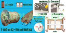 Ablakszigetelő, ajtószigetelő, öntapadó tömítőprofil, P, barna, dupla, 9 x 5,5 mm, 2x50 m