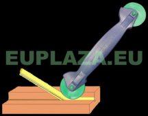 Behengerlő szerszám, nútba építhető gumiprofilhoz, műanyag