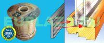 Szárazüvegező profil, VD 607, EPDM, fekete, 15 mm x 3 mm x 100 m