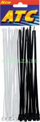 Kábelkötegelő, fekete + átlátszó, 200 x 4,8 mm, 24 db/csomag