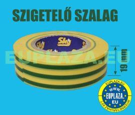 Szigetelőszalag, zöld-sárga csíkos, 10 m, 5 db/csomag