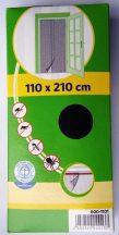 Szúnyogháló, ajtóra, öntapadós tépőzárral, fekete, 210 x 60 cm x 2 db
