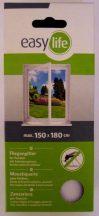 Szúnyogháló, öntapadós tépőzárral, fehér, 150 cm x 180 cm