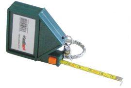 Mérőszalag, kulcstartóval, fém, 1 m, 10 db/csomag