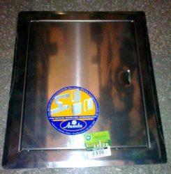 Szerelőajtó, DMN54, ellenőrző ajtó, rozsdamentes acél, 200 x 200 mm