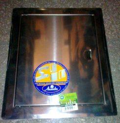 Szerelőajtó, DMN71, ellenőrző ajtó, rozsdamentes acél, 550 x 550 mm