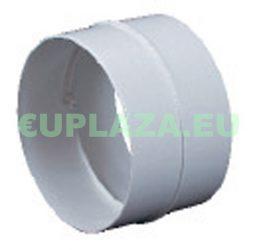 Csőtoldó, KO125-21, kör keresztmetszetű légcsatornához, műanyag, 125 mm