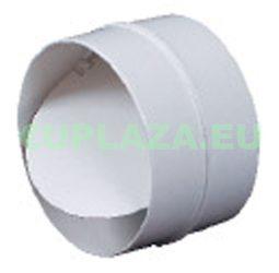 Visszacsapószelep, KO125-22, kör keresztmetszetű légcsatornához, műanyag, átmérő 125 mm
