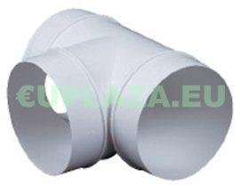 T idom, KO125-26, kör keresztmetszetű légcsatornához, műanyag, átmérő 125 mm