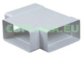 T-idom, KP55-26, négyszög keresztmetszetű légcsatornához, műanyag, 55 x 110 mm