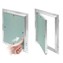 KRAL1, lenyitható álmennyezeti szerviz ajtó, alumínium, 150x200mm, rugós zárral.