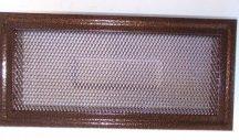 Kandalló szellőző, MK10am, fém, antik réz, 292 x 142 mm