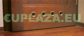 Szellőző, ajtóhoz, T14k110E, kerek, műanyag, tölgy, átmérő 25 mm, 4 db/csomag