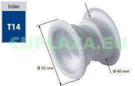 Szellőző, ajtóhoz, T14msE, kerek, műanyag, króm, átmérő 25 mm, 4 db/csomag