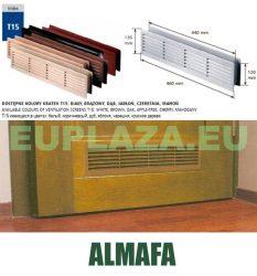 Szellőzőrács, ajtóhoz, T15k111, műanyag, almafa, 460 x 135 mm
