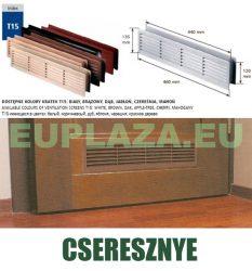 Szellőzőrács, ajtóhoz, T15k112, műanyag, cseresznye, 460 x 135 mm