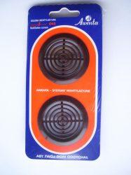 Bútorrács, T72br, bútor szellőző, műanyag, barna, furat átmérő 45mm, 2darab/csomag
