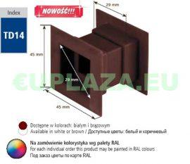 Szellőző, ajtóhoz, TD14E, szögletes, műanyag, fehér, 45 x 45 mm, 4 db/csomag