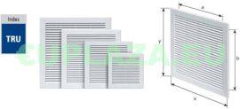 Szellőzőrács, TRU-10, szúnyoghálóval, csavarozható, ragasztható, műanyag, 300 x 300 mm