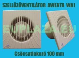 Ventilátor, Awenta WA100, szellőzőventilátor, fali, csőcsatlakozóval, formatervezett, csőcsatlakozó 100 mm