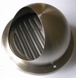 Szellőzőrács, WMN100, kerek, kültéri, szúnyoghálóval, rozsdamentes acél, csőcsatlakozó 100 mm.Akció a készlet erejéig!