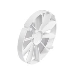 Visszacsapószelep,ventilátorra szerelhető, ZZ100, műanyag, átmérő 100 mm
