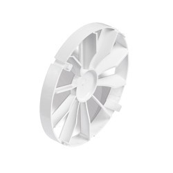 Visszacsapószelep,ventilátorra szerelhető, ZZ125, műanyag, átmérő 125 mm